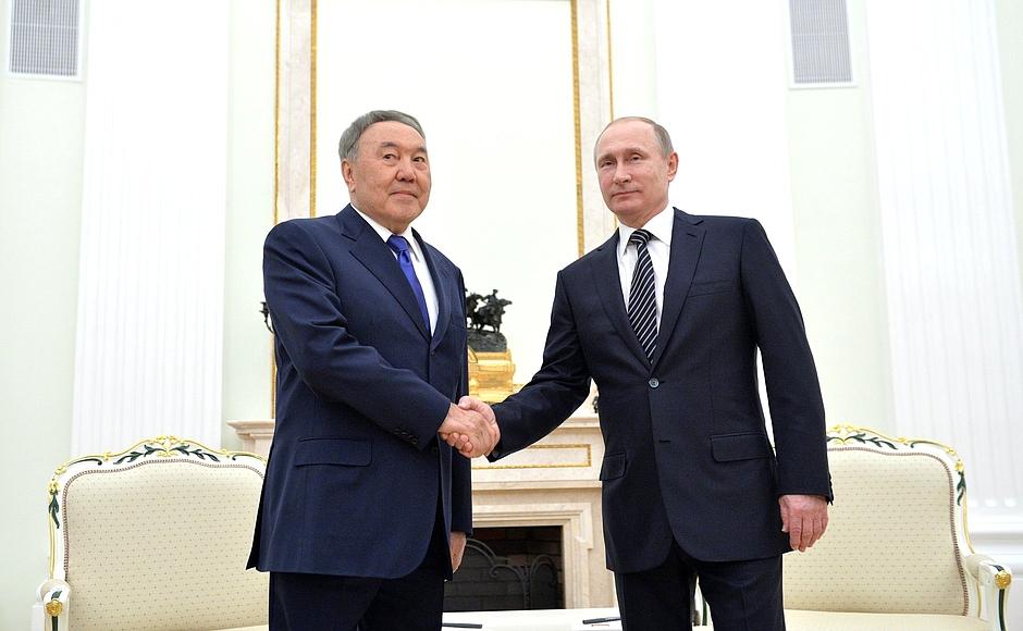 nazarbayev putin moskva