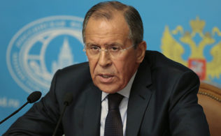 Russia's Foreign Minister Sergey Lavrov speaks in Moscow, Russia, Monday, Aug. 25, 2014. Russia has announced plans to send a second aid convoy to rebel-held eastern Ukraine, where months of fighting have left many residential buildings in ruins. Lavrov said Monday that Russia had notified the Ukrainian government that it was preparing to send a second convoy along the same route in the coming days.  (AP Photo/Ivan Sekretarev)